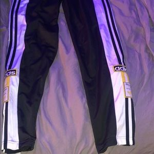 Adidas track pants button up sides
